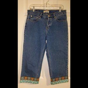 EUC vintage LONDONJEAN crop jeans.